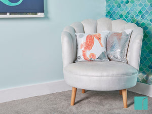 MyShell Chair with Seahorse Cushions