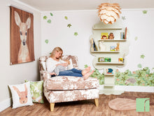 Gold Chaise Lounge in Woodland Nursery