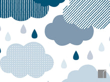 Clouds-and-raindrops-wall-stickers