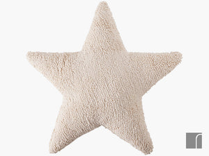 Cream-Star-Cushion