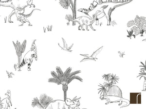 Dinosaur-Wallpaper-Black-and-White