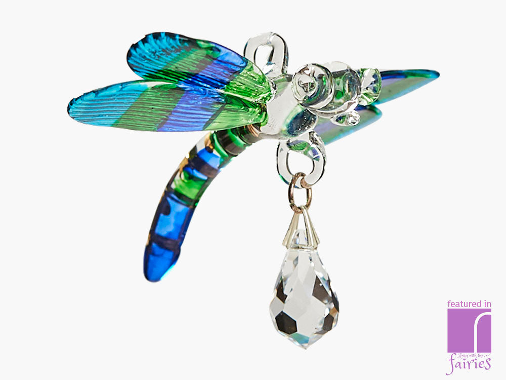 Fantasy Glass Dragonfly ornament