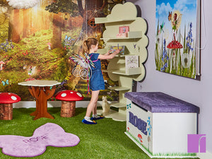 Sapling Tree Bookshelves in Fairy bedroom
