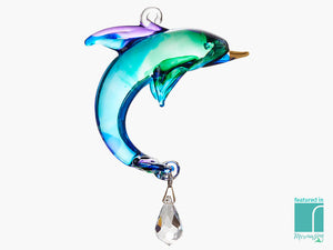 Glass Hanging Dolphin