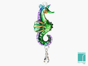 Glass Hanging Seahorse
