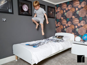 White Flexa Play Bed in The Launch Space Bedroom