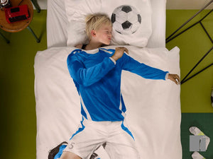 Snurk Footballer-Bedding-Blue