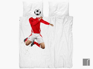 Footballer-Bedding-Red-double Snurk