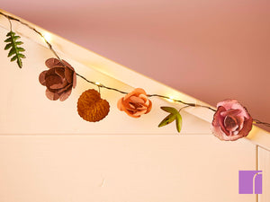 LED Flower Garland