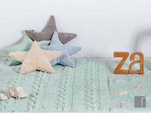 Green,-Blue,-Cream-and-Grey-Star-Cushions