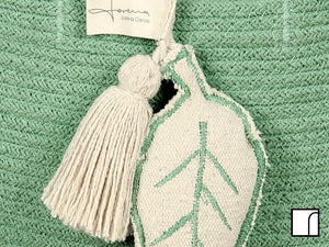 Lorena Canals Green Leaf Basket