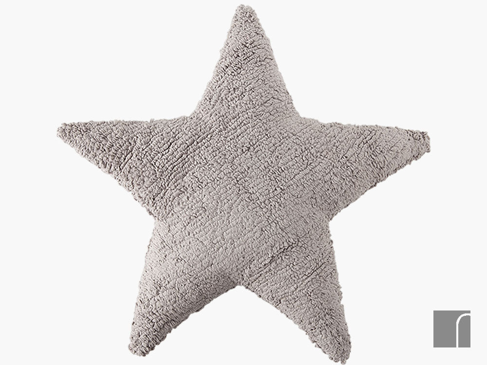 Grey-Star-Cushion