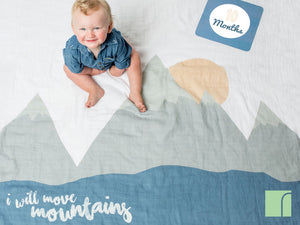 I Will Move Mountains Baby Milestone age set