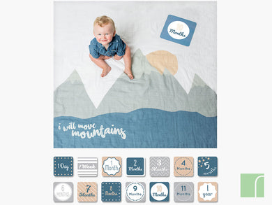 I Will Move Mountains Baby Milestones Cards