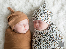 Leopard-Print-and-brown-Swaddle-blanket