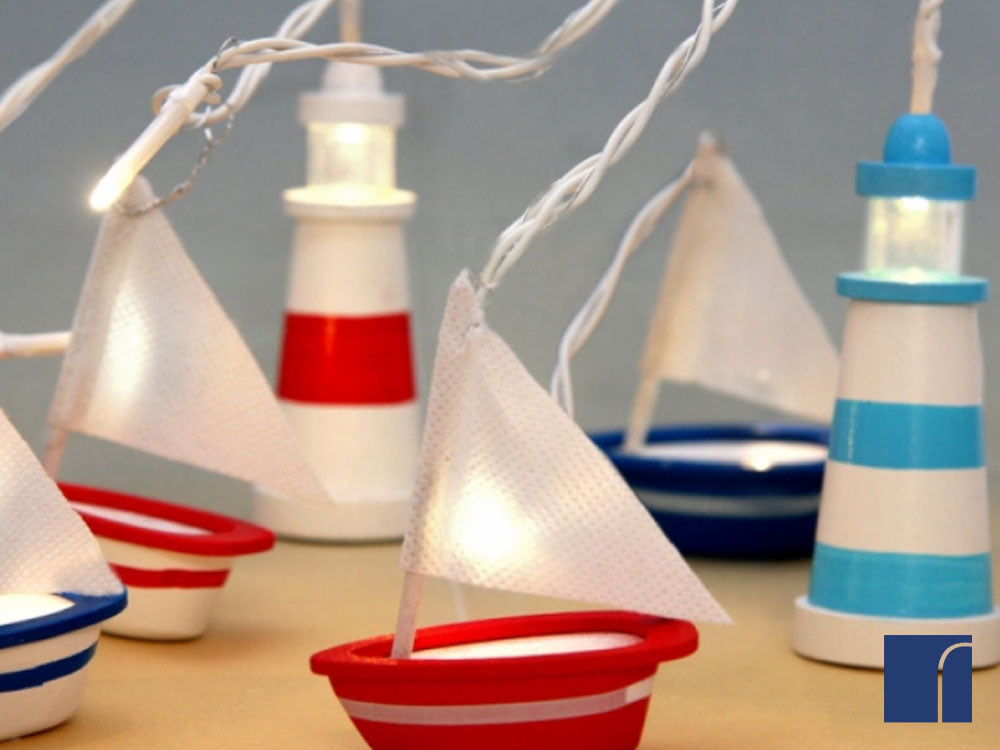 Boat and Lighthouse String Lights