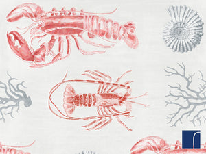 Lobster Red and Blue Wallpaper
