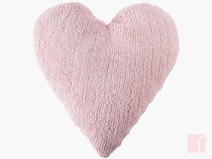 Pink heart cushion
