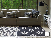 Lorena Canals Black and White Diamond Rug
