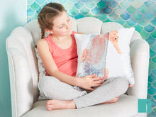 Seahorse Cushion in the Mermazing Mermaid bedroom