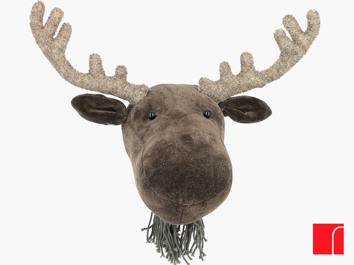 Mini velvet moose head