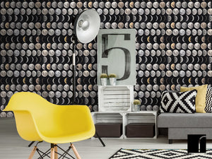 Moon Phases Wallpaper in room
