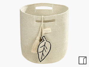 Cream Leaf Basket