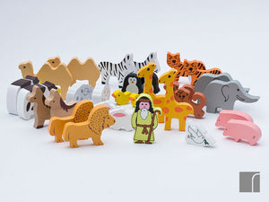 Noahs Ark In A Tin Animals