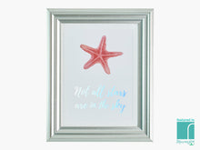 'Not All Stars' Holographic Starfish Framed Print