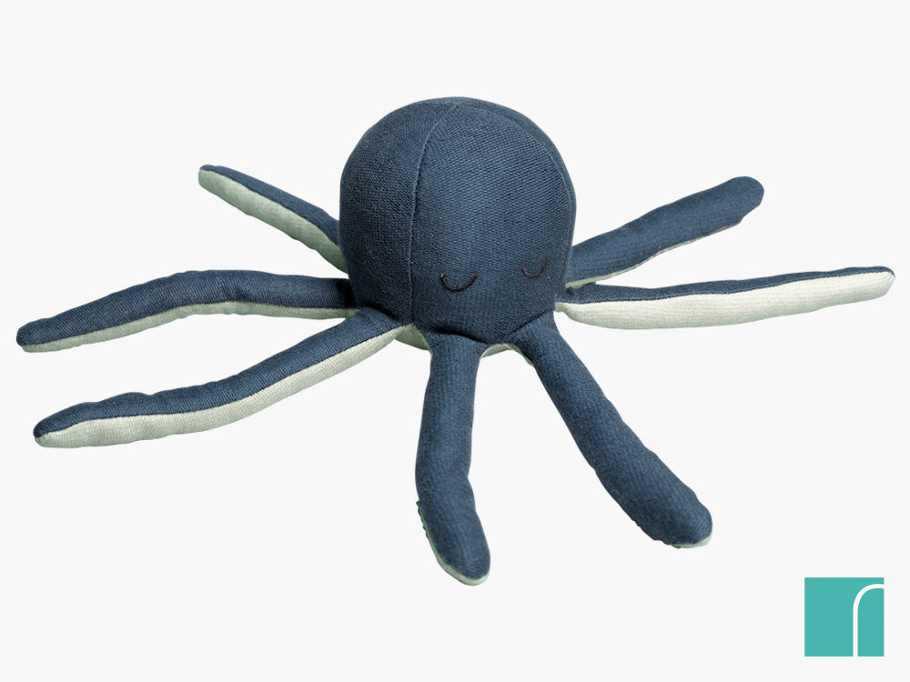 Blue Octopus Rattle