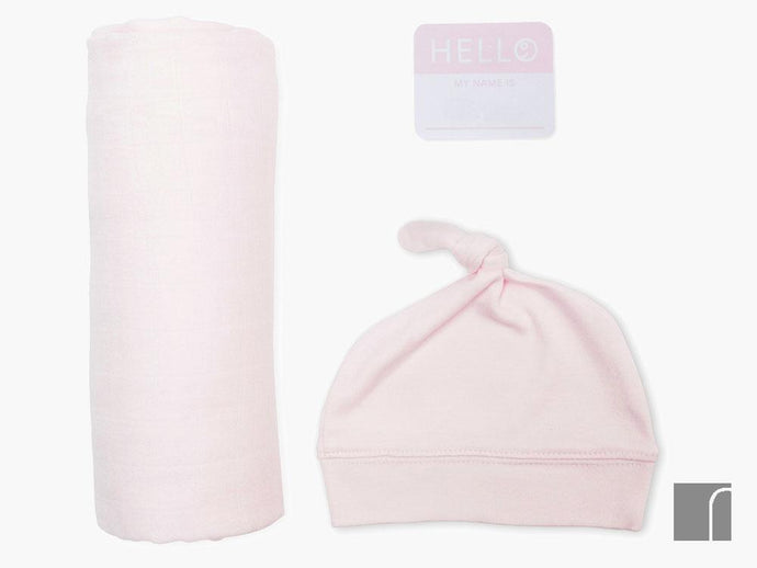 Pink-Blanket-birth-announcement-set