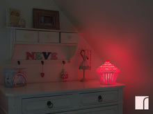 pink cup cake night light