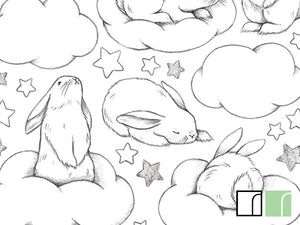 Rabbits-Stars-and-Clouds-Wall-Stickers