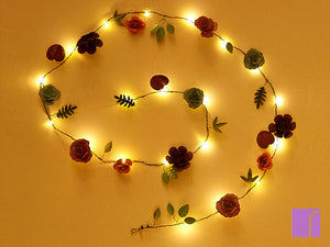 LED Rose Garland
