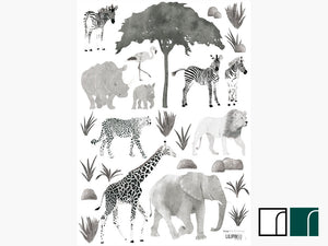 Safari-Jungle-Animals-Wall-Stickers