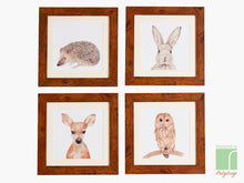 Set of 8 Woodland Nursery Framed Prints