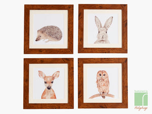 Set Of 4 Woodland Creature Prints