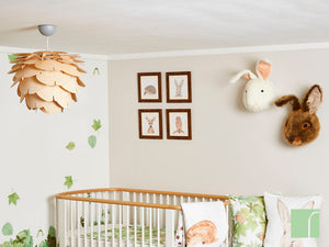 Woodland Creature Framed Prints in Woodland Nursery