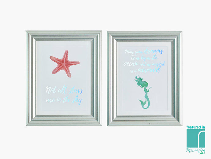 Set of 2 Mermazing Framed Prints