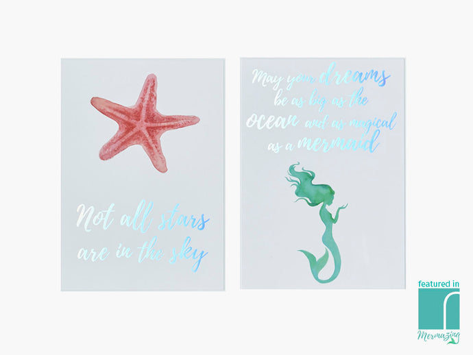 Set of 2 Mermazing Prints