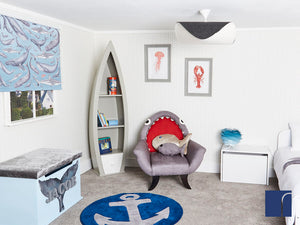 Boat Shelves and Shark Chair