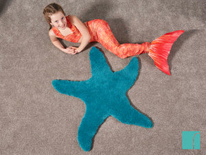 Starfish Rug in Mermazing room