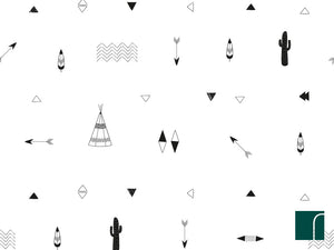 Teepees-and-feathers-wallpaper