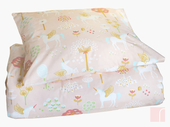 True Unicorns Single Duvet Set - Pink