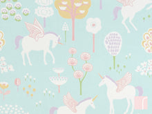 Turquoise Unicorn Wallpaper