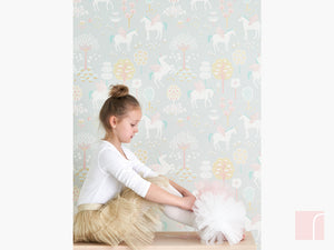 Grey Unicorn Wall Decor