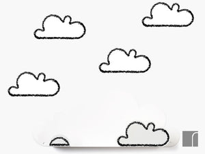 Cloud shelf and stickers
