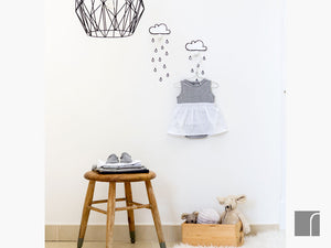 Cloud Hooks with Raindrop Stickers