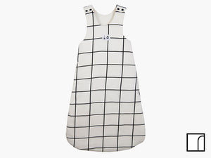 White-grid-sleeping-bag