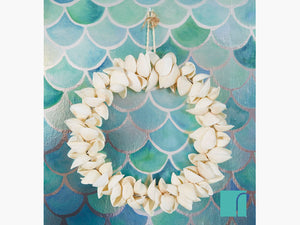 Cockle Shell Wreath and Mermazing Wallpaper